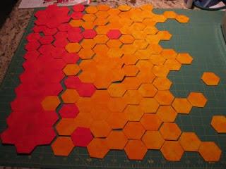 Progress: Orange hexagon