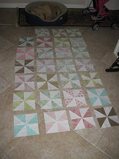 Progress on Cora's Quilt