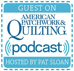Catch me on American Patchwork & Quilting Radio