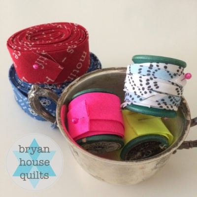 Double Fold Bias Tape {Tutorial}