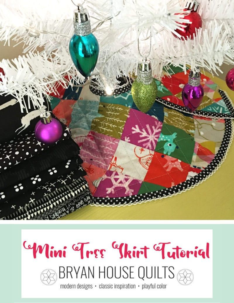 Mini Christmas Tree Skirt {Tutorial Reboot}