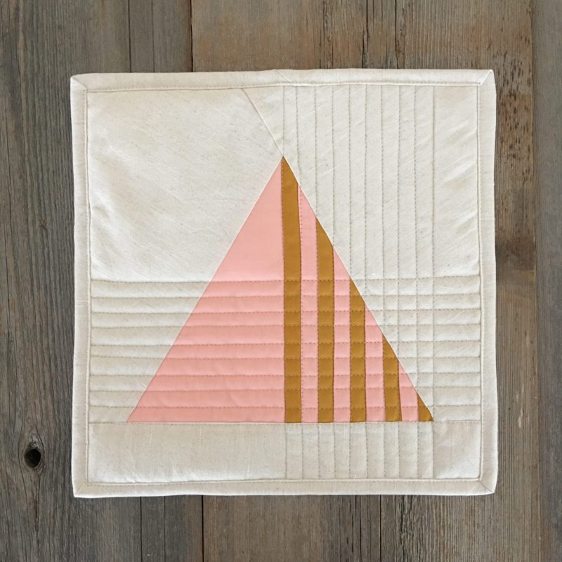 Equilateral sampler modern triangle quilts for Modern house quilt block