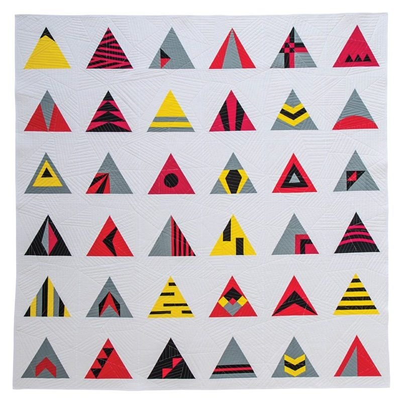 Equilateral Sampler {Modern Triangle Quilts}