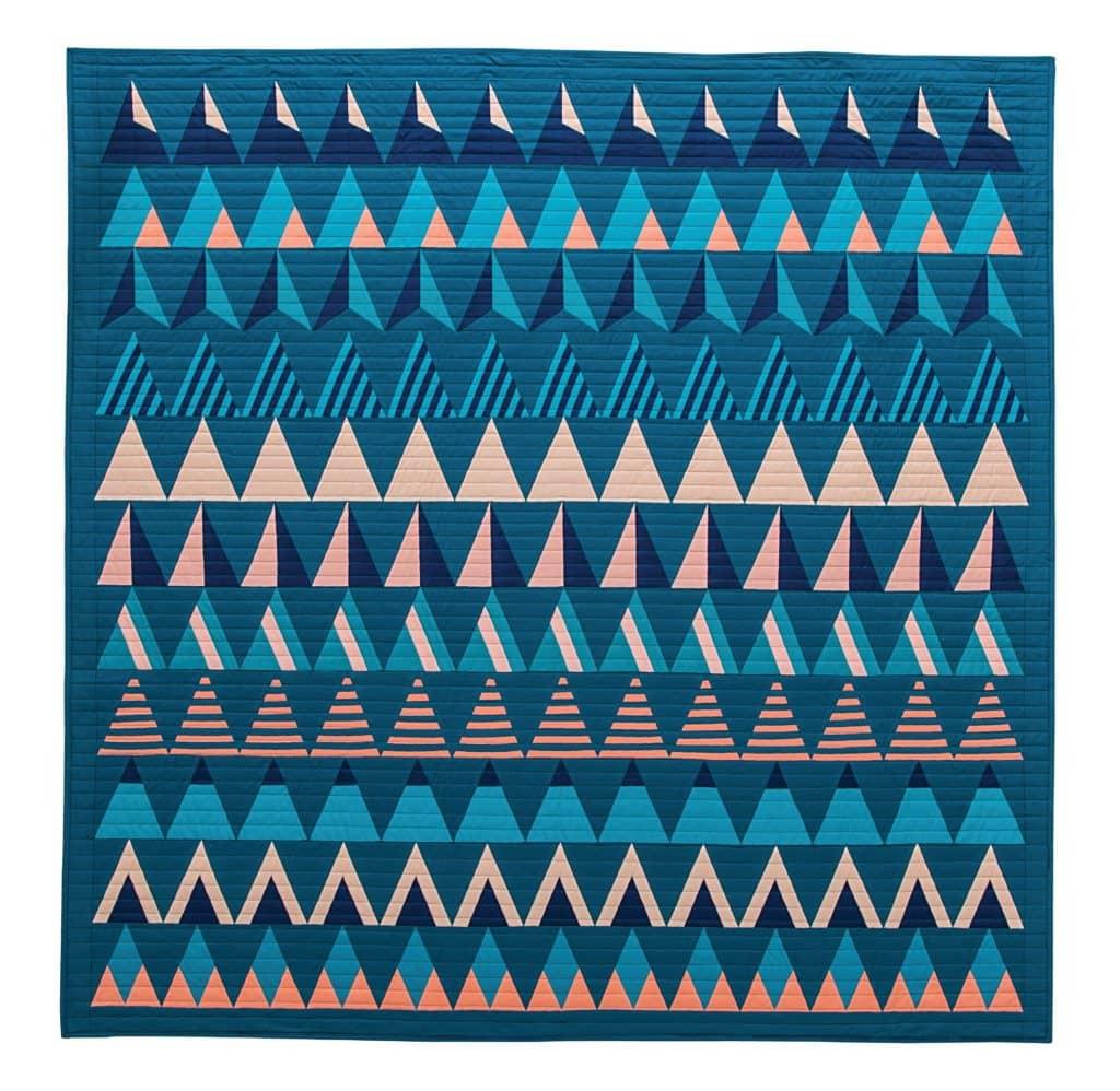 Riptide, Modern Triangle Quilts, Rebecca Bryan