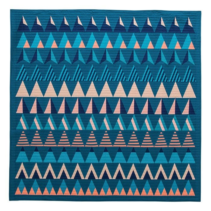 Exploring Graphic Design Vocabulary through Isosceles Triangles {Modern Triangle Quilts}