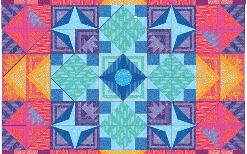 Introduction and Outline {Modern Triangle Medallion Quilt Along}