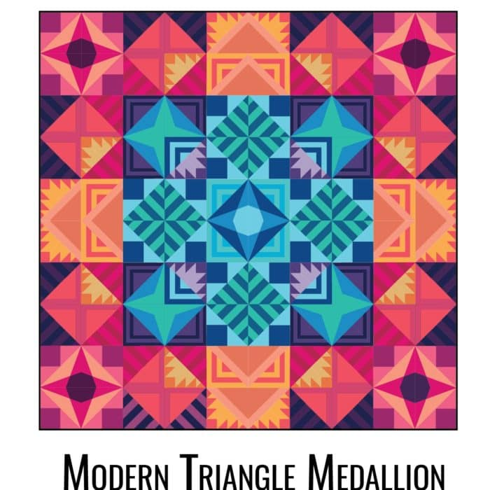 Coming Soon! {Modern Triangle Medallion Quilt Along}