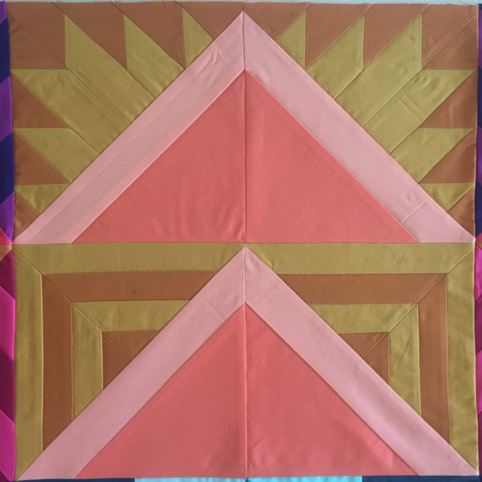 Week 4 {Modern Triangle Medallion Quilt Along}