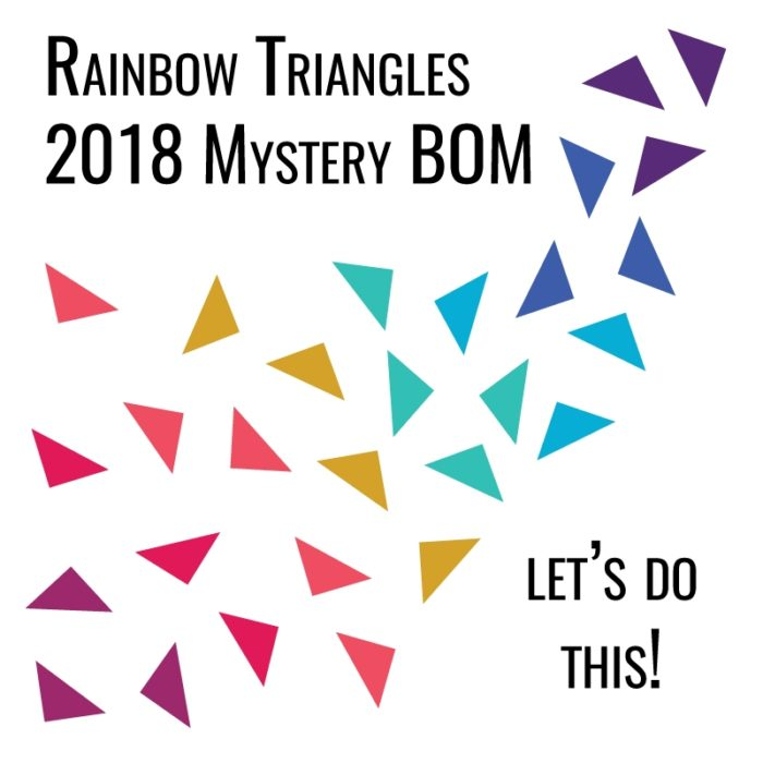 Modern Triangle 2018 Mystery BOM {Registration is open!}
