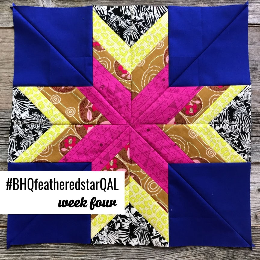 Feathered Star Quilt Along {Week 4 – Piecing the Blocks}
