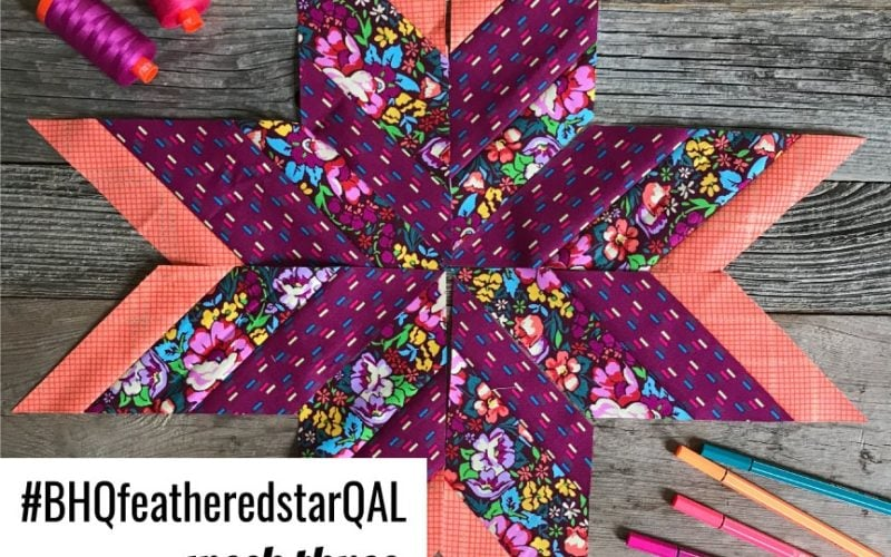 Feathered Star Quilt Along {Week 3 – Making the Star Spokes}