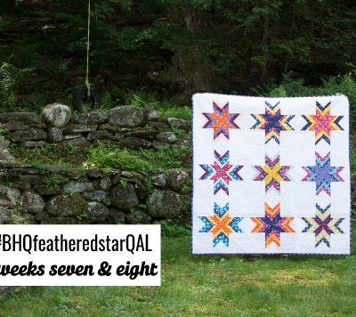 Feathered Star Quilt Along {Weeks 7-8 Quilting and Link Up Party}