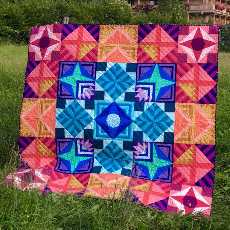 Modern Triangle Medallion Quilt Along