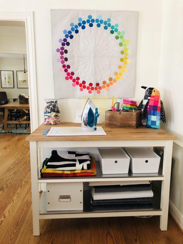 Bryan House Quilts, studio storage ideas