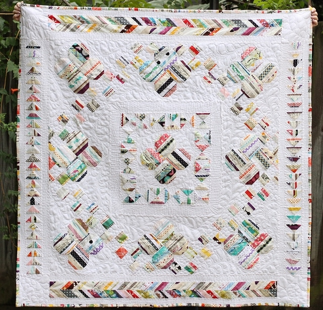 Lucky, a selvage medallion, by Bryan House Quilts