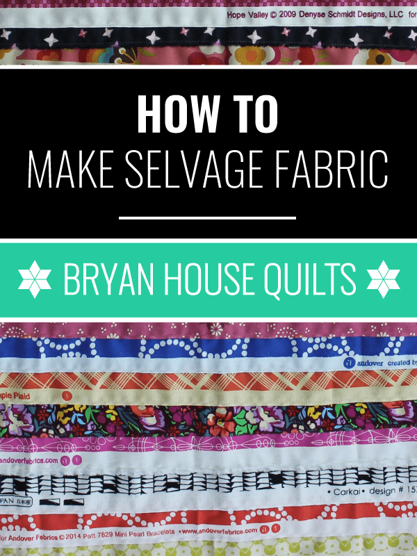 How to Use Selvages to Make Selvage Fabric