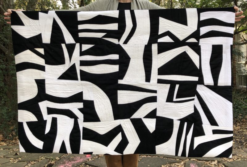 Black and White Improvisational Quilt, Rebecca Bryan