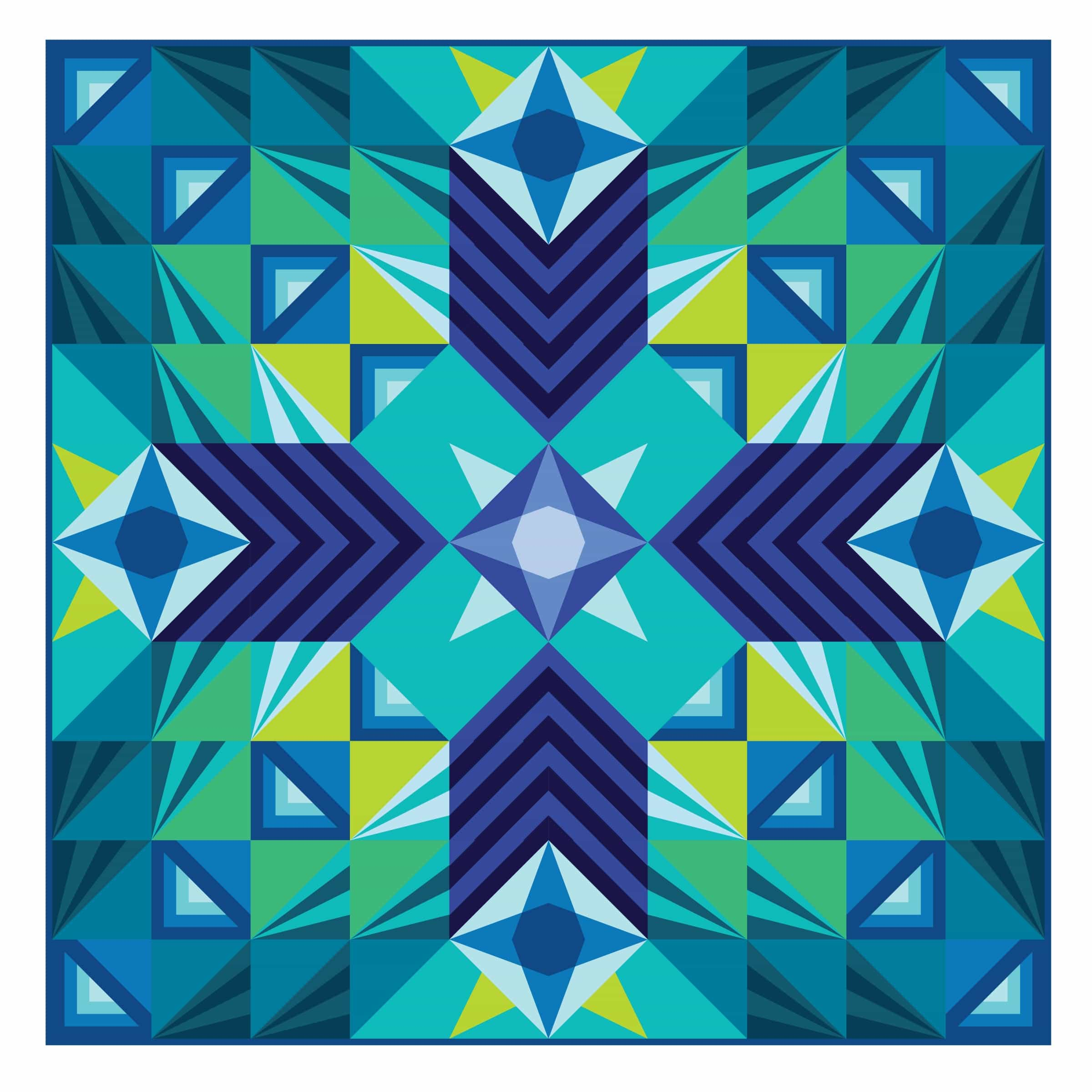 Stargazer, a modern block of the month quilt