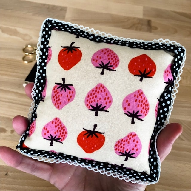 Bryan House Quilts, Strawberry Pin Cushion