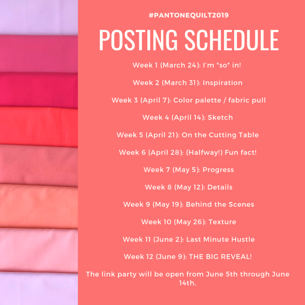 Pantone Quilt Challenge 2019 - Living Coral - Bryan House Quilts