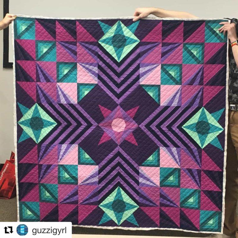 Beth's Stargazer quilt