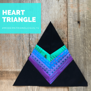 Heart Modern Triangle block, Rebecca Bryan